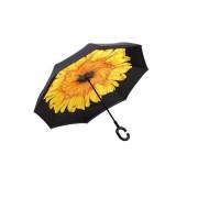 Umbrela de ploaie cu  Imprimeu Interior Floarea soarelui, 106 cm
