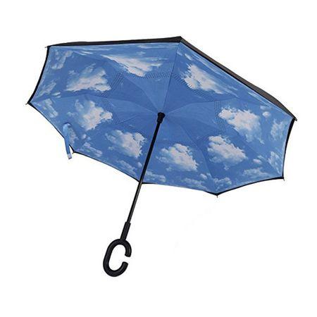 Umbrela de ploaie cu  Imprimeu Interior Nori,  106cm