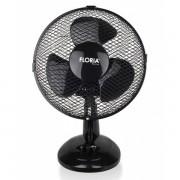 Ventilator de birou, Putere 25 W, Diametru 26 cm, 2 trepte de viteza, Functie oscilare, Floria