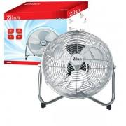 Ventilator inox cu suport , pe pardoaseala,  50 W, Diametru 36 cm, 3 trepte ventilare, Zilan