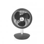 Ventilator portabil reincarcabil , Putere 5W, Diametru 18 cm, incare USB, 4 viteze reglabil pe vertical, Gri, Zilan